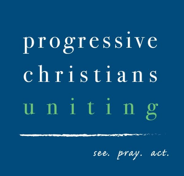 Progressive Christians Uniting [logo] see, pray, act
